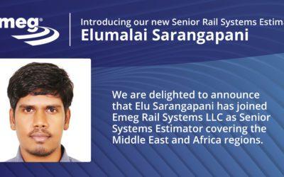 Elumalai Sarangapani Joins Emeg Rail Systems LLC
