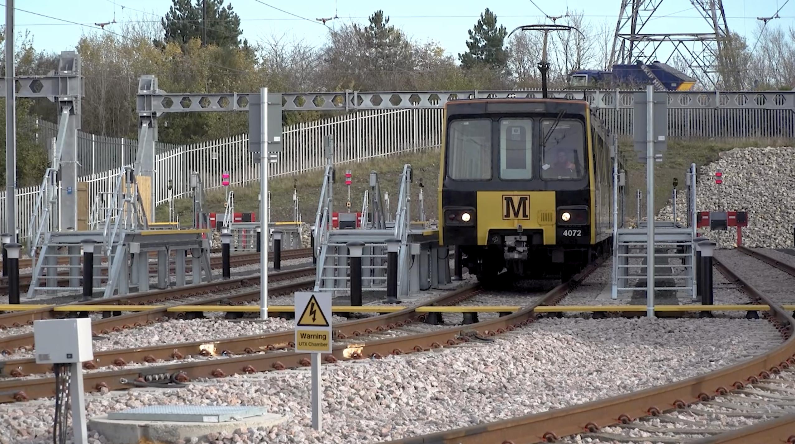 Metro train stabled at Howdon Satellite Depot